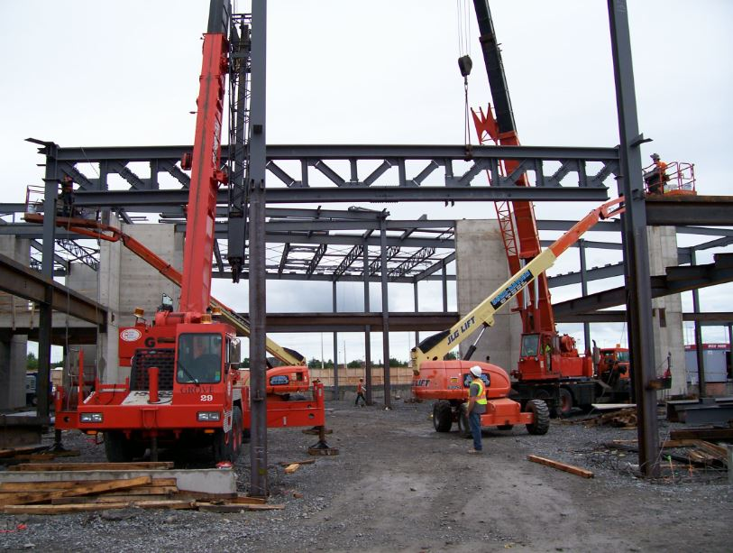 Algonquin college Center of Excellence 2 Domi-Nation Steel Erectors Steel Building Erecting